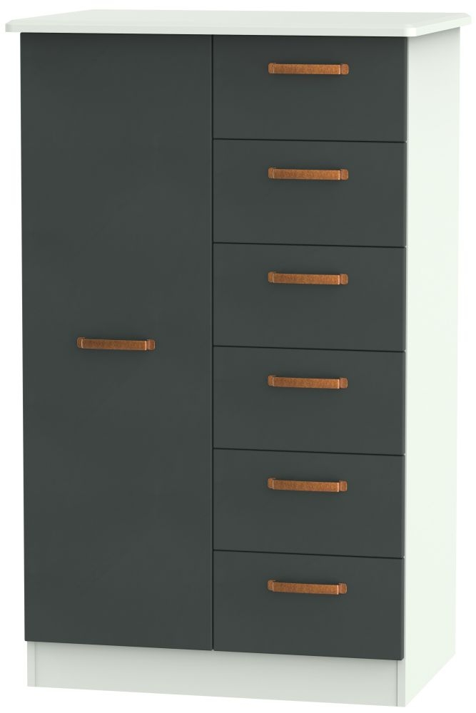 Buckingham Graphite 1 Door Children Wardrobe
