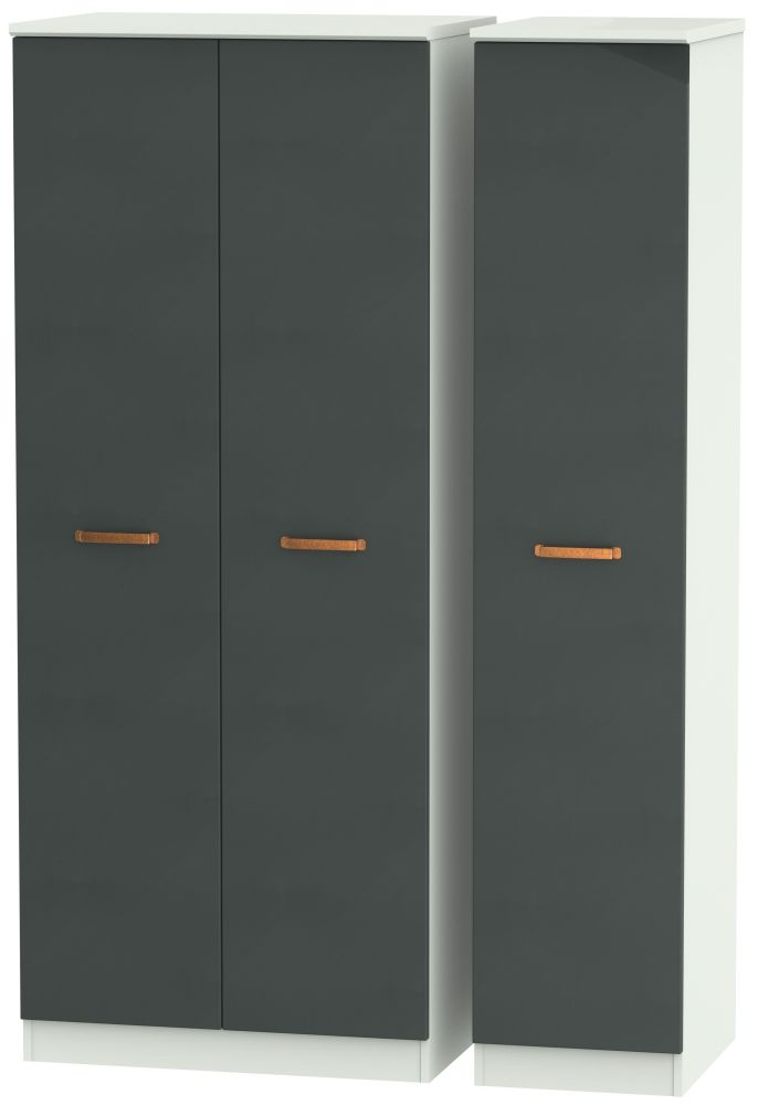 Buckingham Graphite Triple Plain Wardrobe