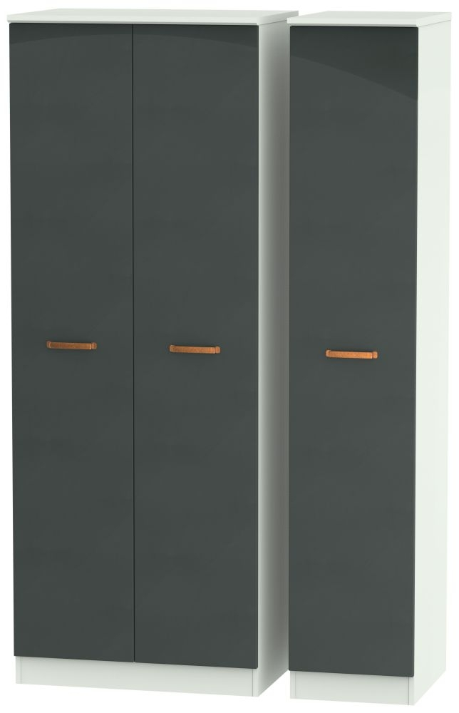 Buckingham Graphite Triple Wardrobe - Tall Plain