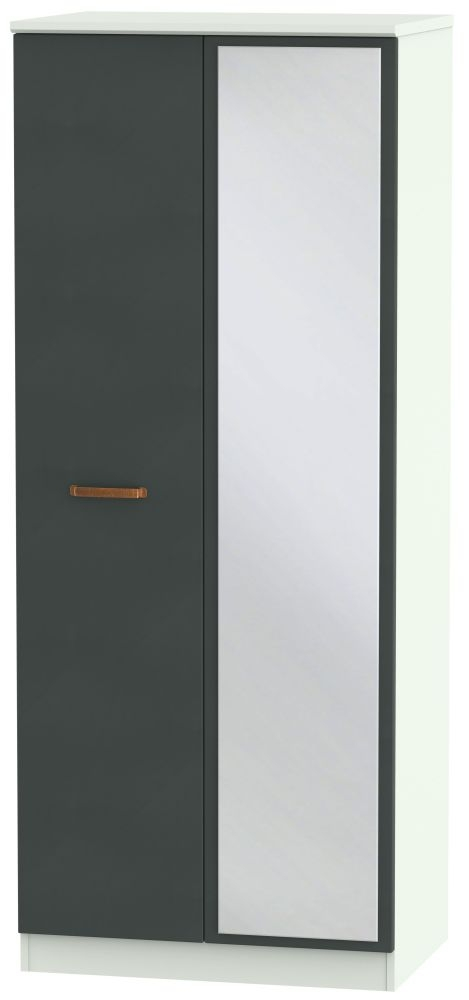 Buckingham Graphite Wardrobe - 2 ft 6in with Mirror