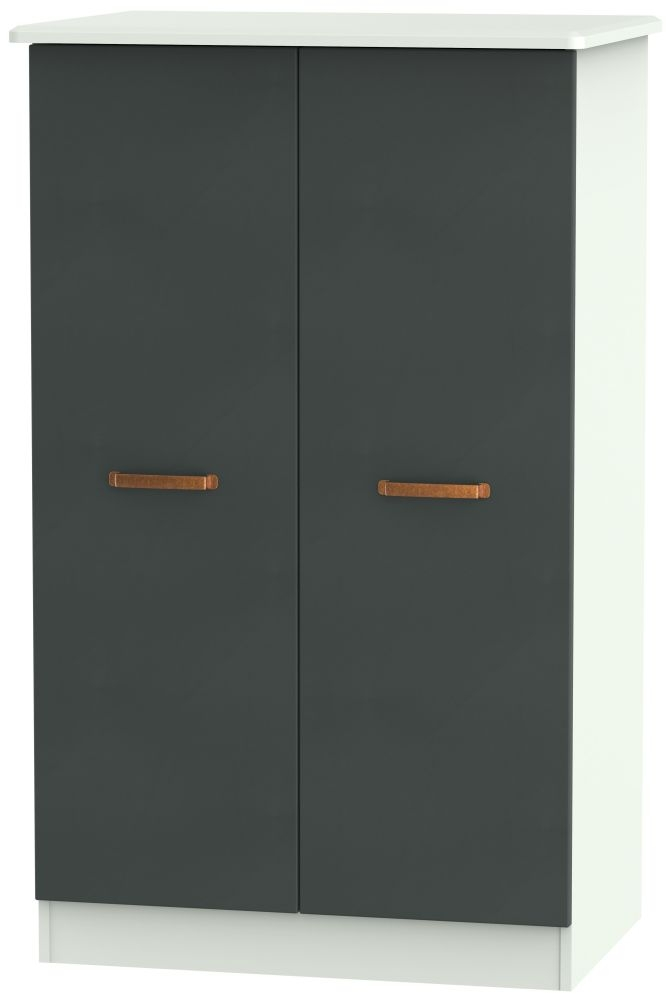 Buckingham Graphite Wardrobe - 2ft 6in Plain Midi