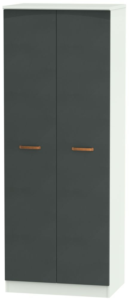 Buckingham Graphite 2 Door Tall Hanging Wardrobe