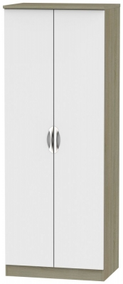 Camden 2 Door Tall Wardrobe - Grey and Darkolino