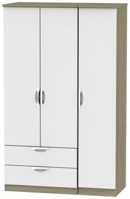 Camden 3 Door 2 Left Drawer Wardrobe - Grey and Darkolino