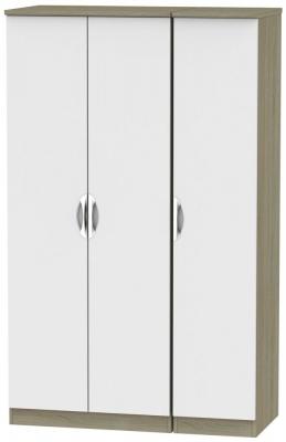 Camden 3 Door Wardrobe - Grey and Darkolino