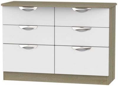 Camden 6 Drawer Midi Chest - Grey and Darkolino