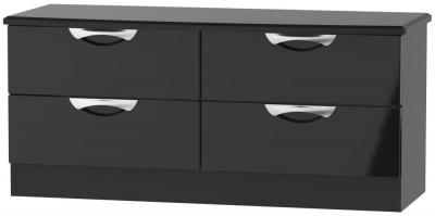 Camden High Gloss Black Bed Box