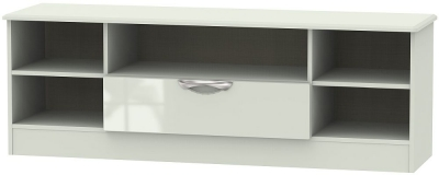 Camden High Gloss Kaschmir 1 Drawer Wide Open TV Unit
