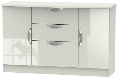 Camden High Gloss Kaschmir 2 Door 3 Drawer Sideboard