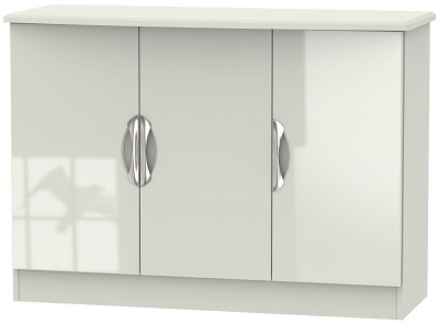 Camden High Gloss Kaschmir 3 Door Narrow Sideboard