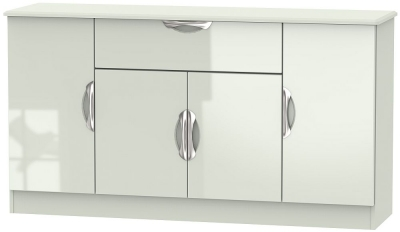 Camden High Gloss Kaschmir 4 Door 1 Drawer Wide Sideboard