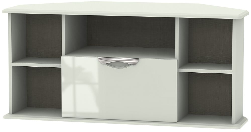 Camden High Gloss Kaschmir 1 Drawer Corner TV Unit