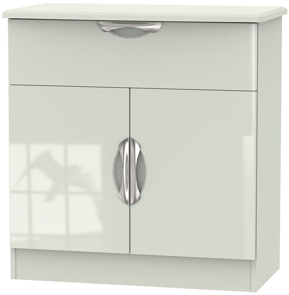 Camden High Gloss Kaschmir 2 Door 1 Drawer Narrow Sideboard