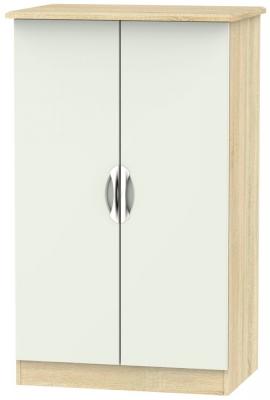 Camden 2 Door Midi Wardrobe - High Gloss Kaschmir and Bardolino