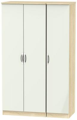 Camden 3 Door Wardrobe - High Gloss Kaschmir and Bardolino