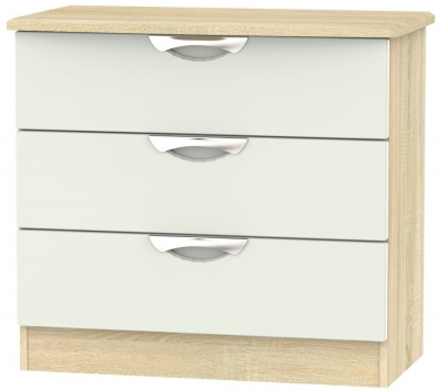 Camden 3 Drawer Chest - High Gloss Kaschmir and Bardolino