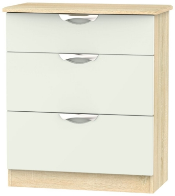 Camden 3 Drawer Deep Chest - High Gloss Kaschmir and Bardolino