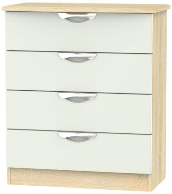 Camden 4 Drawer Chest - High Gloss Kaschmir and Bardolino