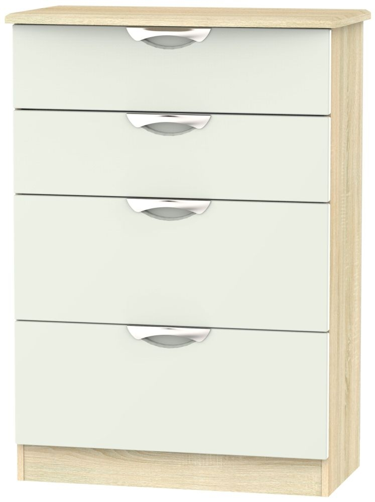 Camden 4 Drawer Deep Chest - High Gloss Kaschmir and Bardolino