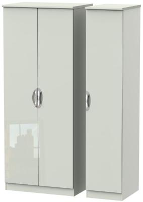 Camden High Gloss Kaschmir 3 Door Plain Triple Wardrobe