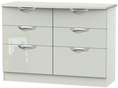 Camden High Gloss Kaschmir 6 Drawer Midi Chest
