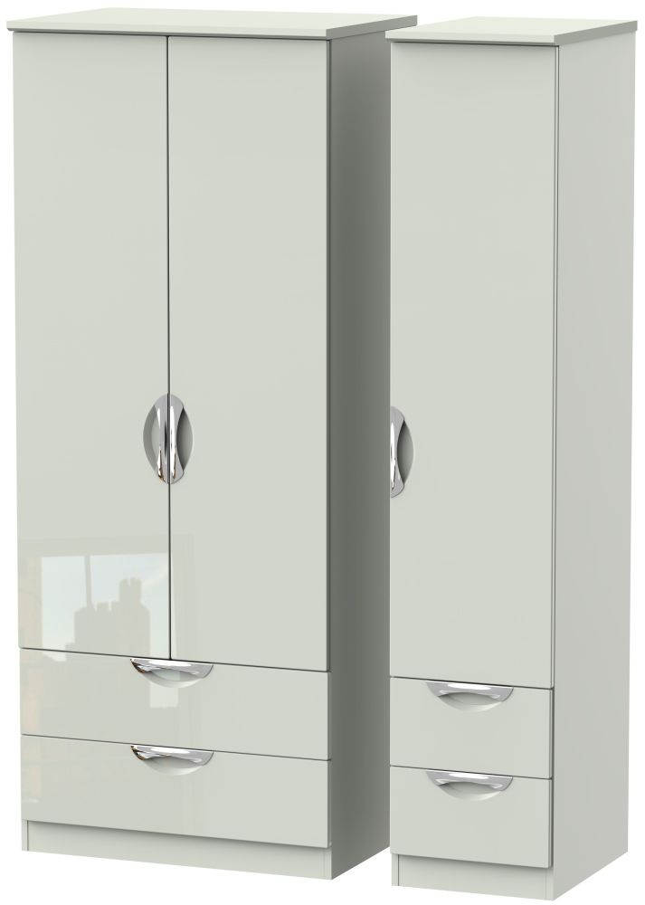 Camden High Gloss Kaschmir 3 Door 4 Drawer Wardrobe