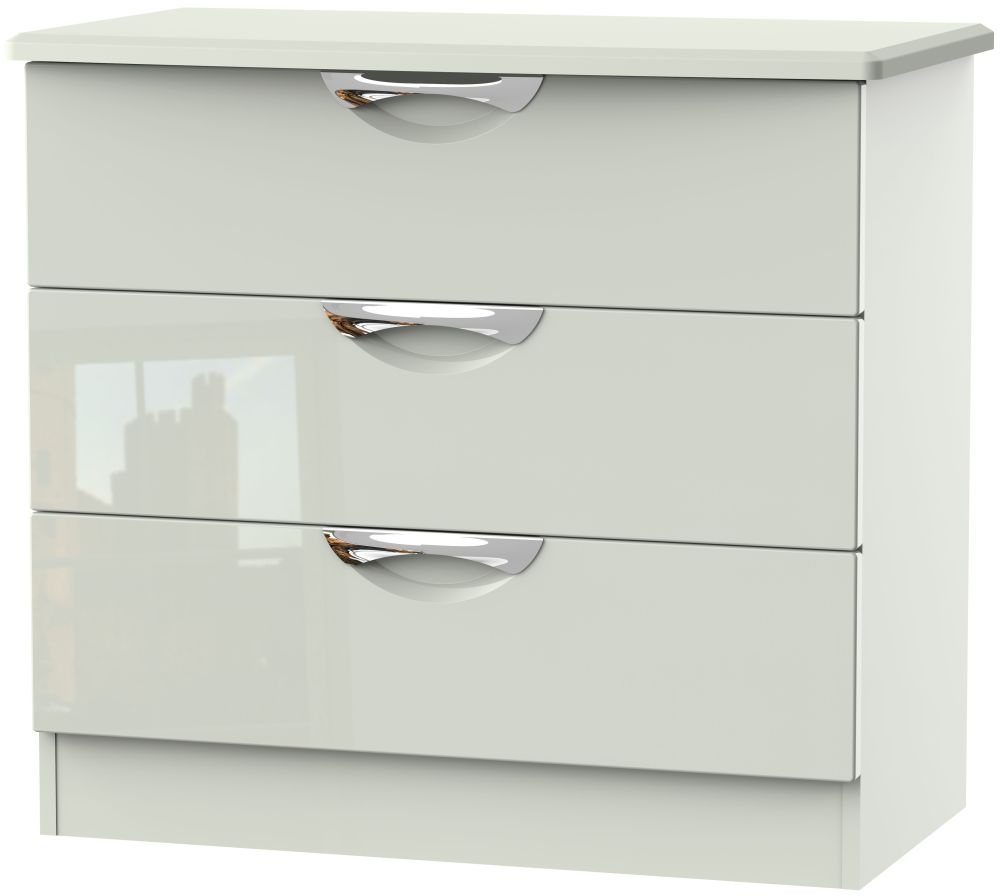 Camden High Gloss Kaschmir 3 Drawer Chest