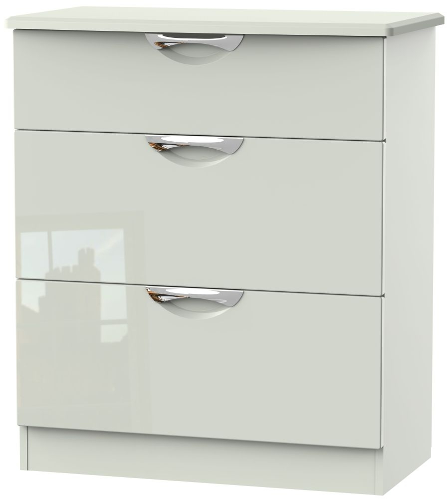 Camden High Gloss Kaschmir 3 Drawer Deep Chest