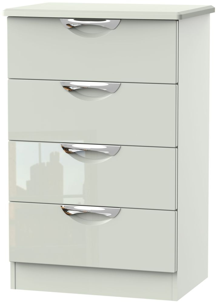 Camden High Gloss Kaschmir 4 Drawer Midi Chest