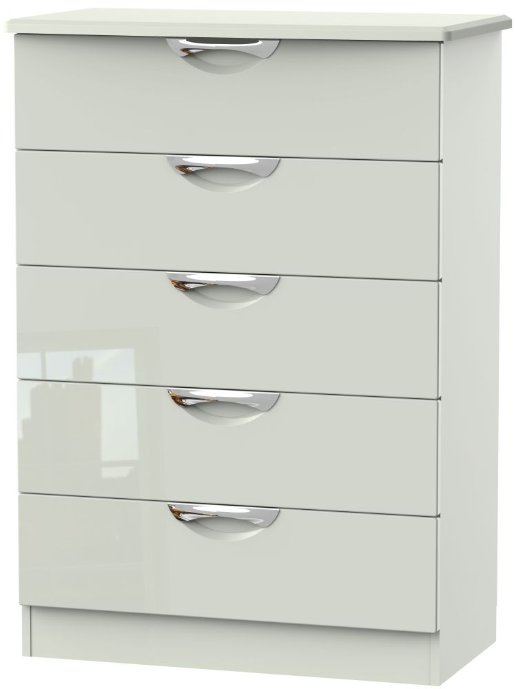 Camden High Gloss Kaschmir 5 Drawer Chest