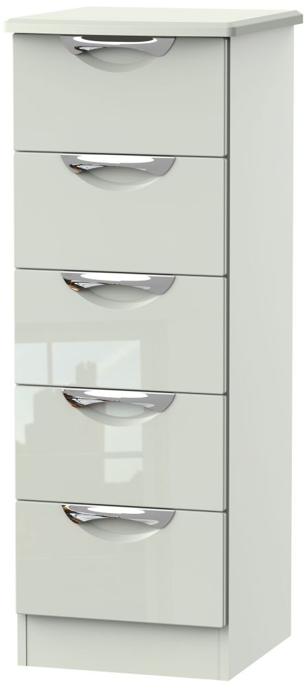 Camden High Gloss Kaschmir 5 Drawer Tall Chest