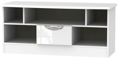 Camden High Gloss White 1 Drawer Open TV Unit