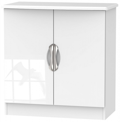 Camden High Gloss White 2 Door Hall Unit