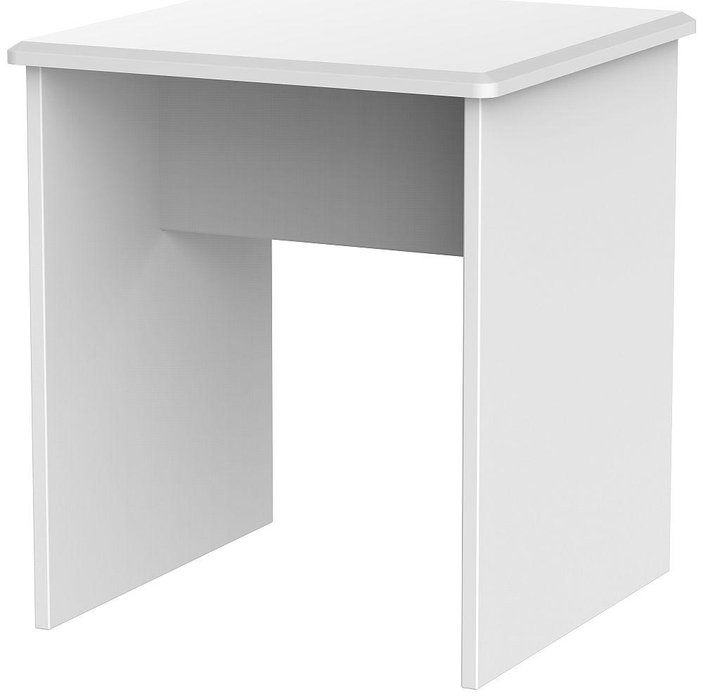 Camden White Lamp Table