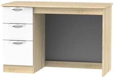 Camden Desk - High Gloss White and Bardolino