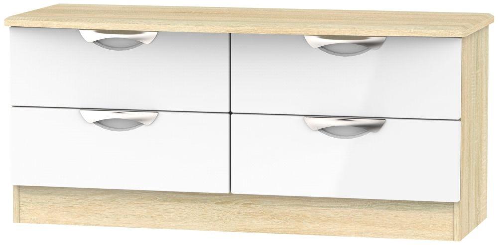 Camden Bed Box - High Gloss White and Bardolino