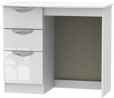Camden High Gloss White Single Pedestal Dressing Table