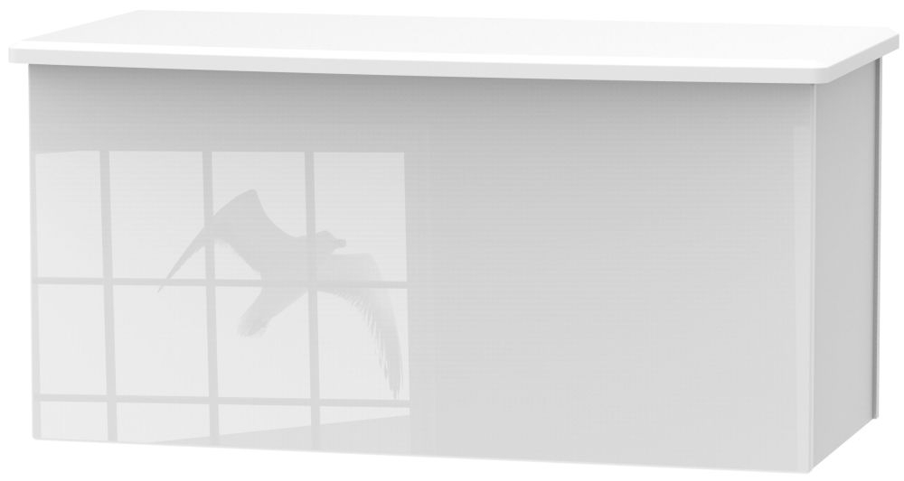 Camden High Gloss White Blanket Box