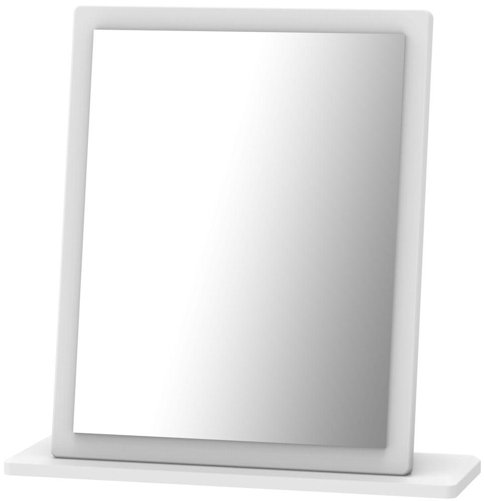 Camden White Small Mirror