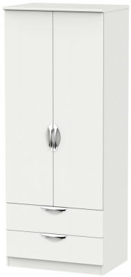 Camden Light Grey 2 Door 2 Drawer Wardrobe
