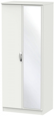 Camden Light Grey 2 Door Mirror Wardrobe