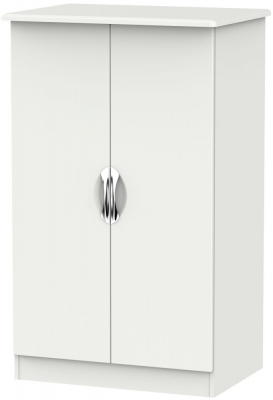 Camden Light Grey 2 Door Plain Midi Wardrobe