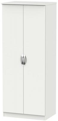 Camden Light Grey 2 Door Plain Wardrobe