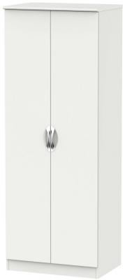 Camden Light Grey 2 Door Tall Double Hanging Wardrobe