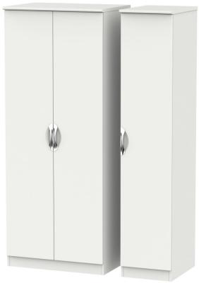 Camden Light Grey 3 Door Plain Triple Wardrobe