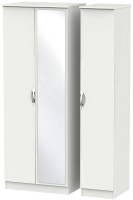 Camden Light Grey 3 Door Tall Mirror Triple Wardrobe