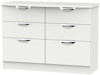 Camden Light Grey 6 Drawer Midi Chest