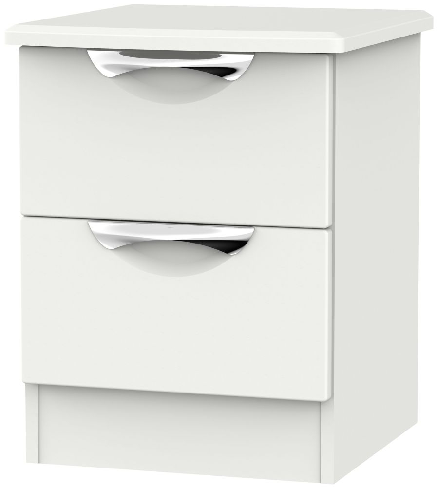 Camden Light Grey 2 Drawer Locker Bedside Cabinet