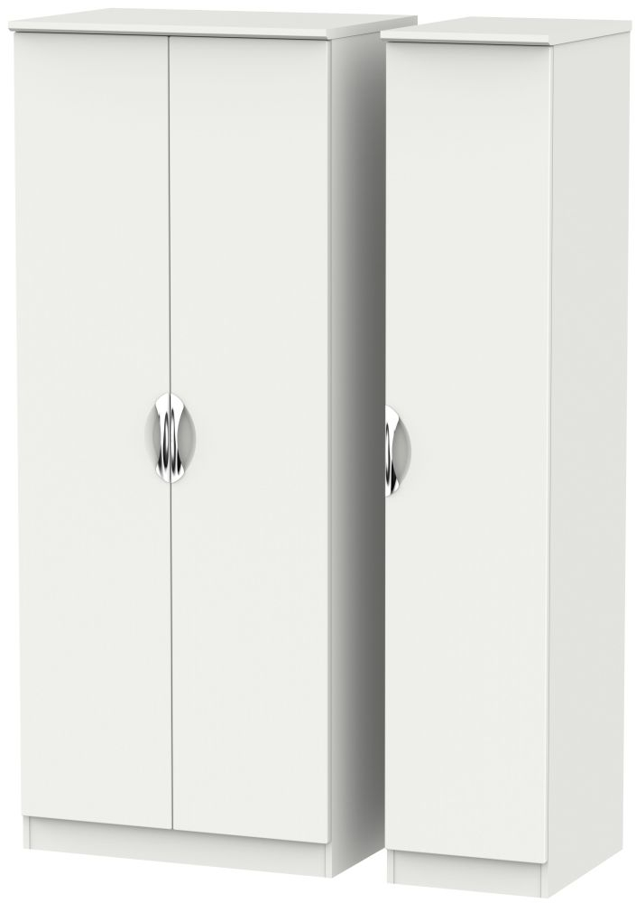 Camden Light Grey 3 Door Plain Triple Wardrobe