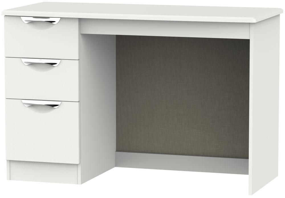 Camden Light Grey 3 Drawer Desk